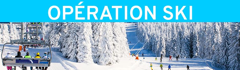 Opération ski - venir chercher les billets à Québec